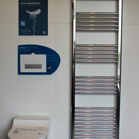 toilet met radiator